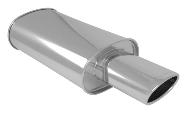 """Single Wall Angle Cut Rolled Edge Vibrant 4.5/"""" x 3/"""" Oval SS Exhaust Tip"""
