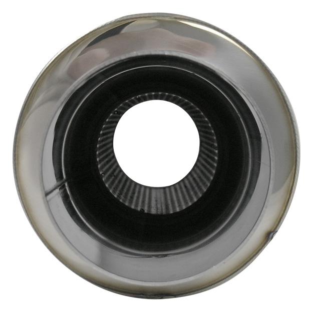 "4/"" Round Tip TPV Universal Muffler Vibrant 1057"