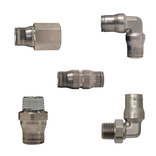 Parker Legris Nickel-Plated Brass Push-In Fittings