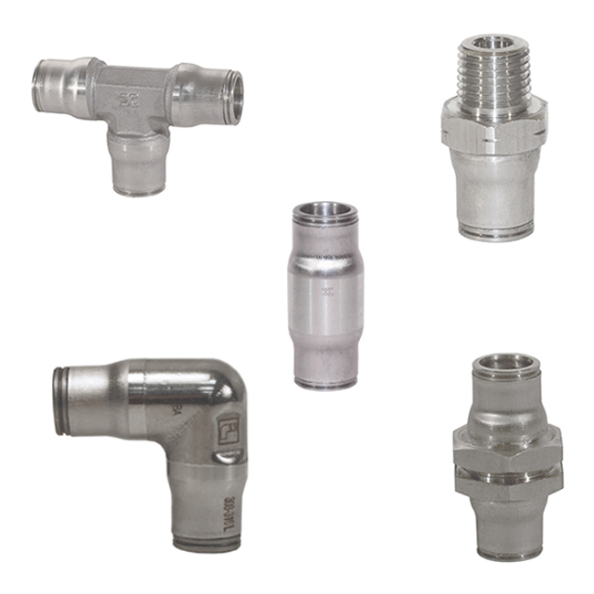 Parker Legris Stainless Steel Push-In Fittings