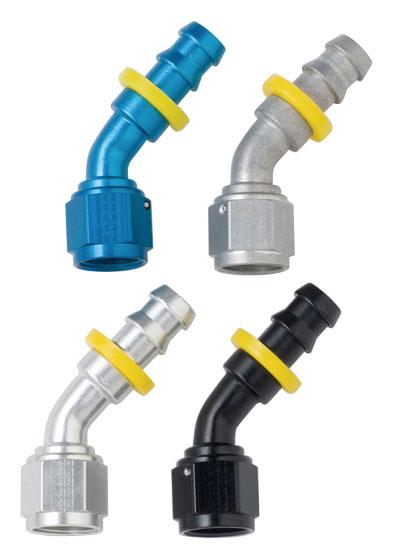 Fragola Fitting Hose End 8000 Series Push-Lite 90D 10AN Barb 8AN Barb Al 209110
