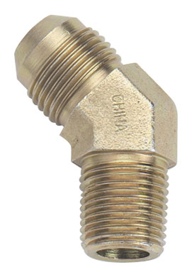Fragola Steel AN x NPT Adapter - 45 Degree (Male to Male)