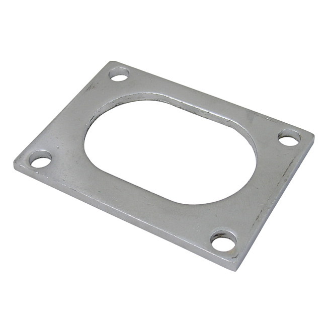 Qtp qtec oval exhaust flange stainless steel quick