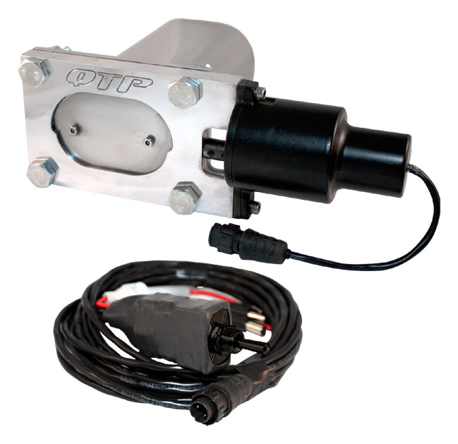 Qtp Qtec Oval Electric Exhaust Cutout Single Quick Time