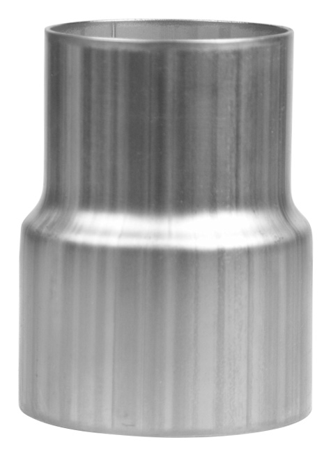Exhaust reducer stainless steel or aluminum slip fit