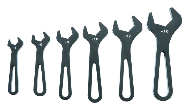 Vibrant Aluminum AN Wrench Set (-4 to -16 AN)