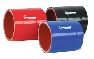 """2.75/"""" I.D x VIBRANT 27131B 4 Ply Reinforced Silicone Straight Hose Coupling"""