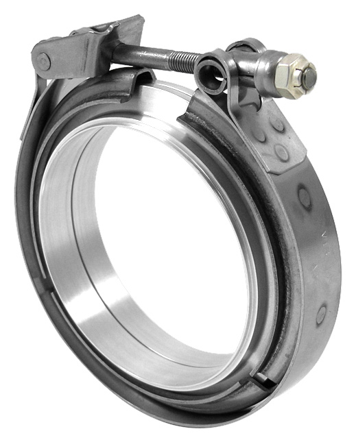 Aluminum V-Band Clamp Assembly (Clamp & Flanges) - Vibrant ...