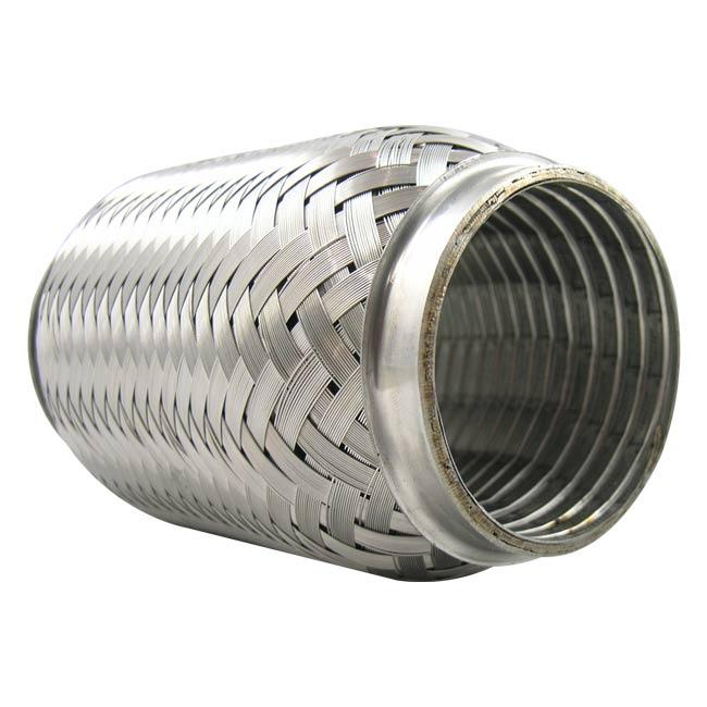 1.5 ID x 4 Long Verocious Motorsports 304 Stainless Steel Exhaust Flex Pipe w//Interlock Liner